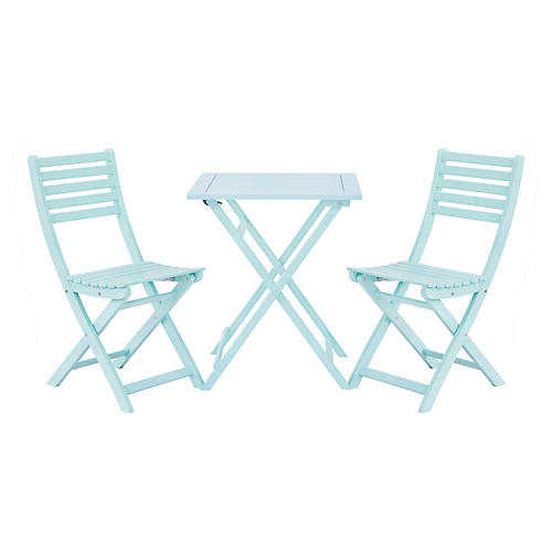 Amber 3-Pc Square Bistro Set, Mint