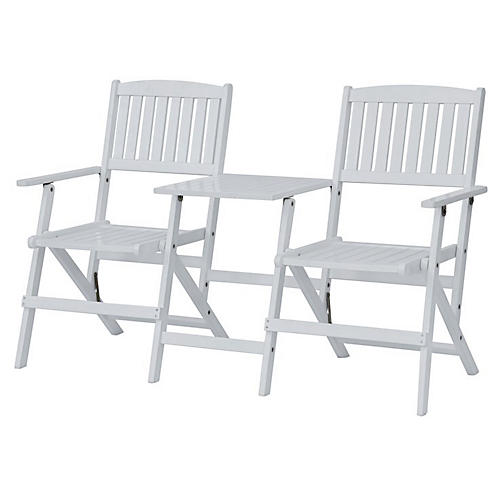 Jack & Jill Outdoor Chairs, White