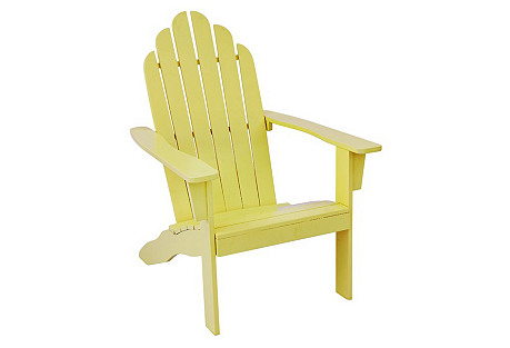 Adiriondack Outdoor Chair, Yellow