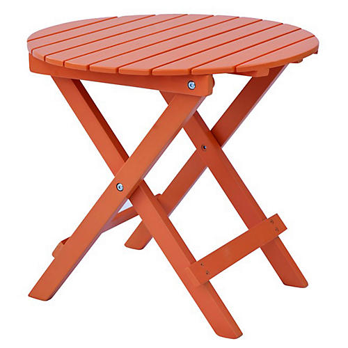 Adirondack Round Side Table, Orange