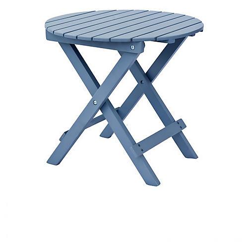 Adirondack Round Side Table, Gray