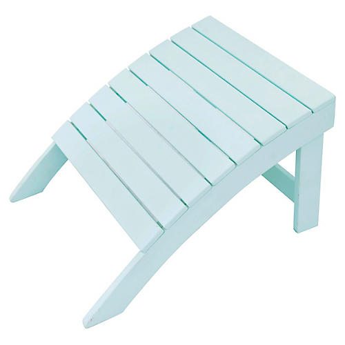 Adirondack Outdoor Ottoman, Mint