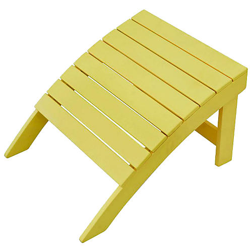 Adirondack Outdoor Ottoman, Yellow