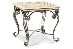 Sophie Marble Side Table, Bone
