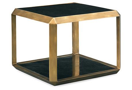 Skylar Side Table, Antiqued Brass