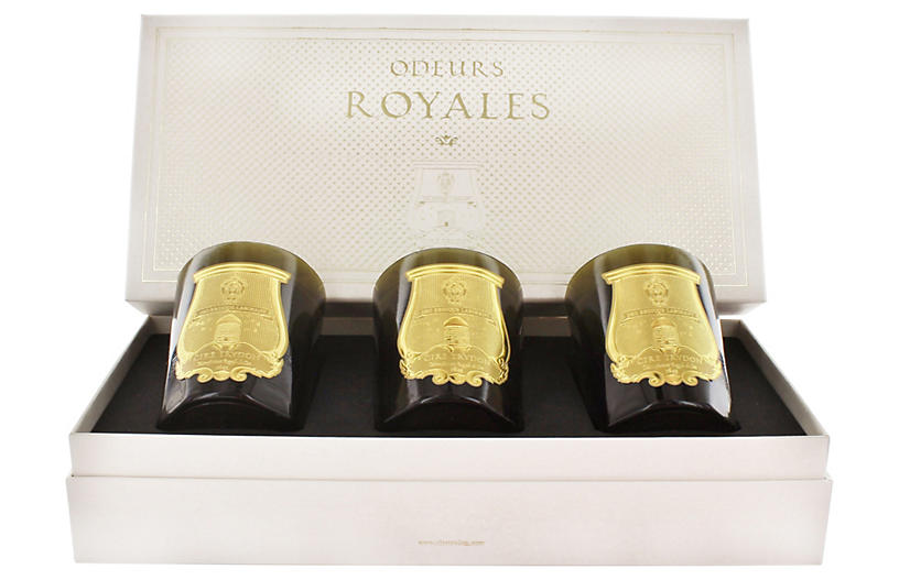 Asst. of 3 Odeurs Royales Candles, Various Scents