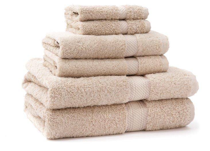 6-Pc Rhapsody Towel Set, Stone