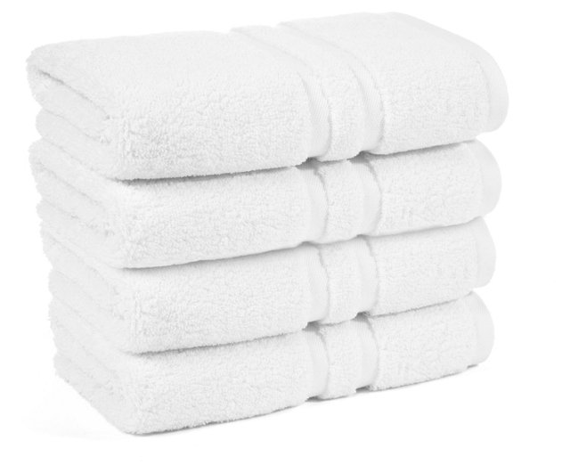 S/4 Irvington Hand Towels, White