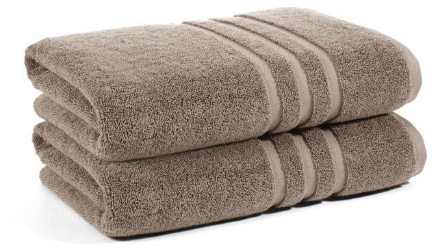 S/2 Irvington Bath Towels, Flax