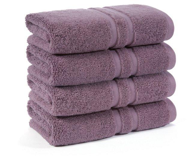 S/4 Irvington Hand Towels, Grape