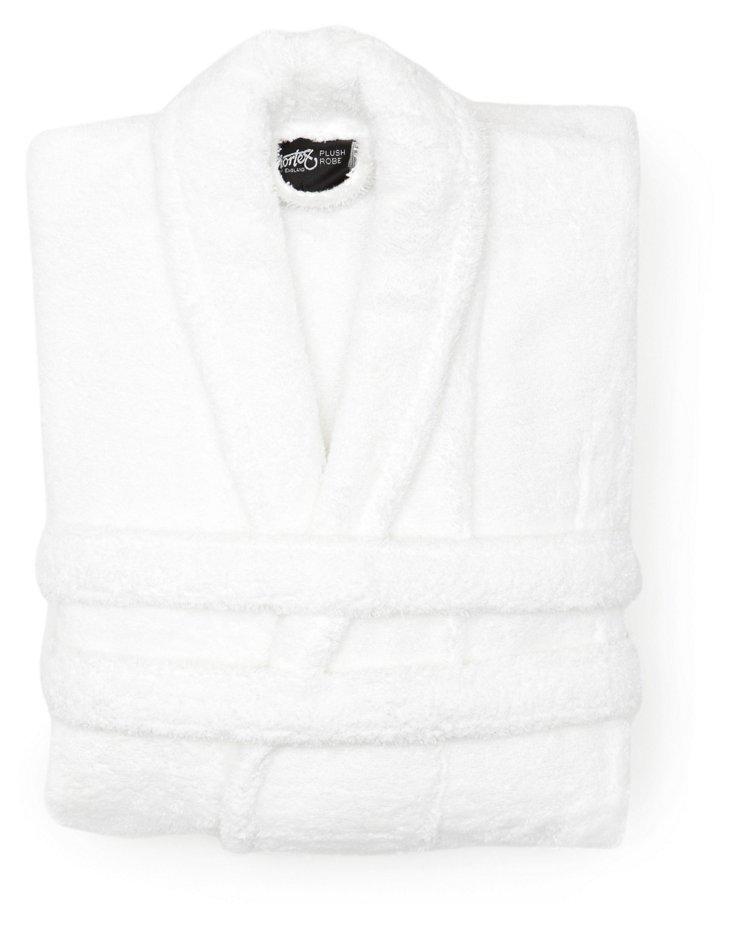 Unisex Plush Robe, White