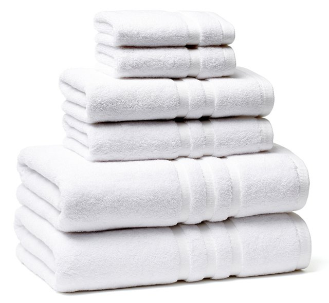 6-Pc Irvington Towel Set, White