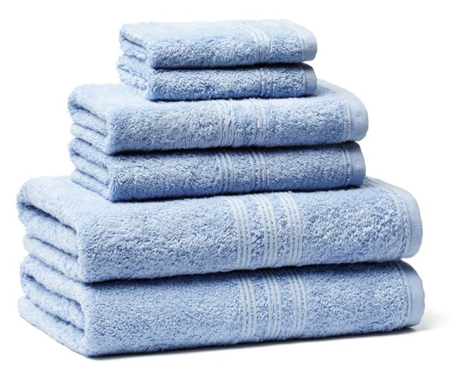 6-Pc Imperial Towel Set, Blue Bell