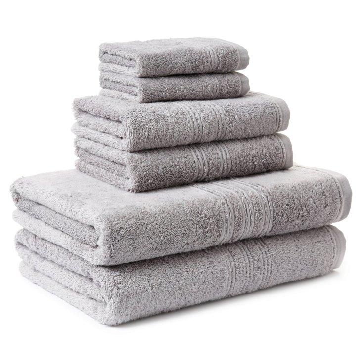 6-Pc Imperial Towel Set, Steel
