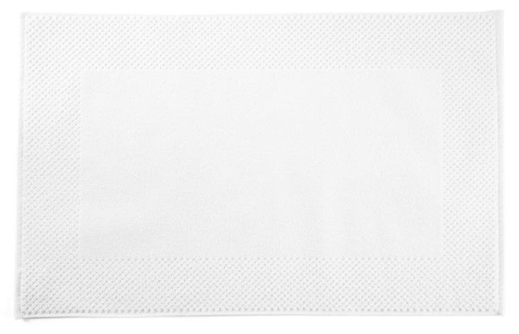 S/2 Honeycomb Bath Mat, White