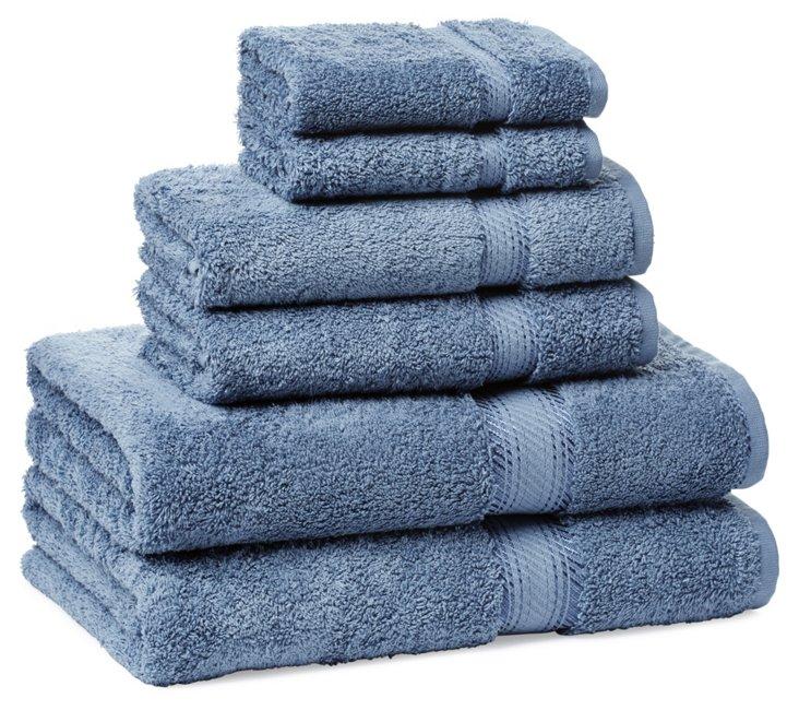S/6 Rhapsody Towels, Water