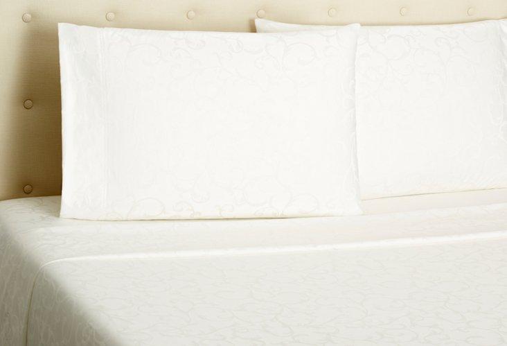 Jacquard Sheet Set, Ivory
