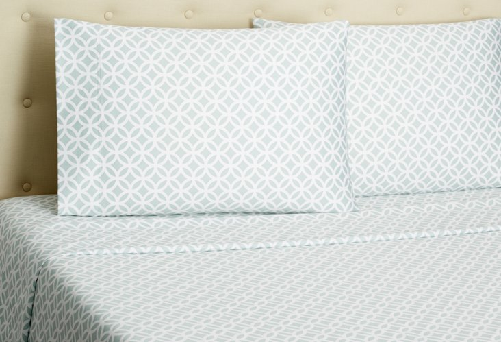Meridan Sheet Set, Sea Glass