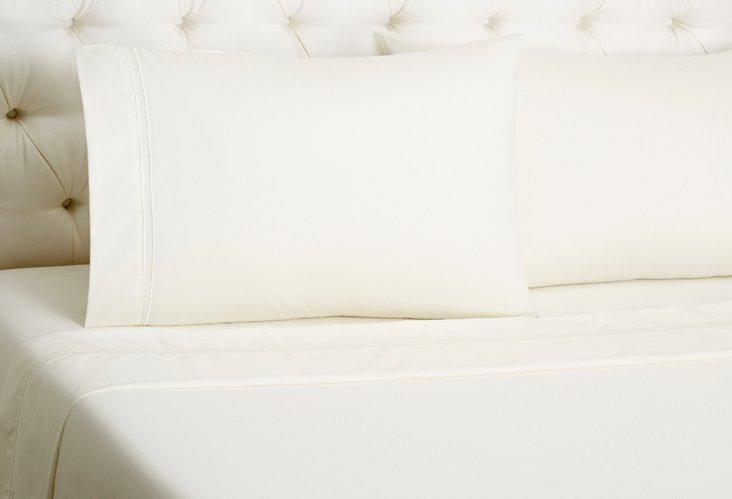 Hotel Sateen Sheet Set, Ivory