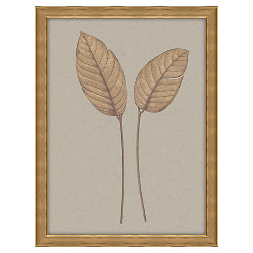 Leaves on Linen II, Oversize