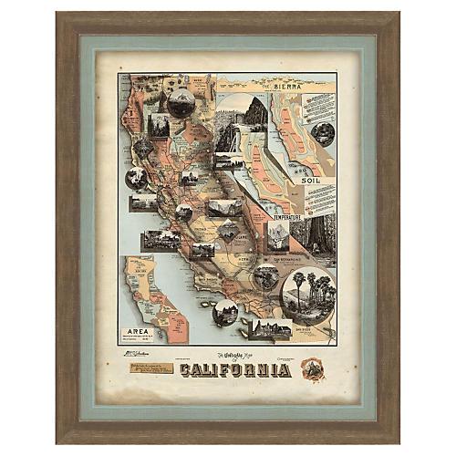 Melissa Van Hise, Map of California