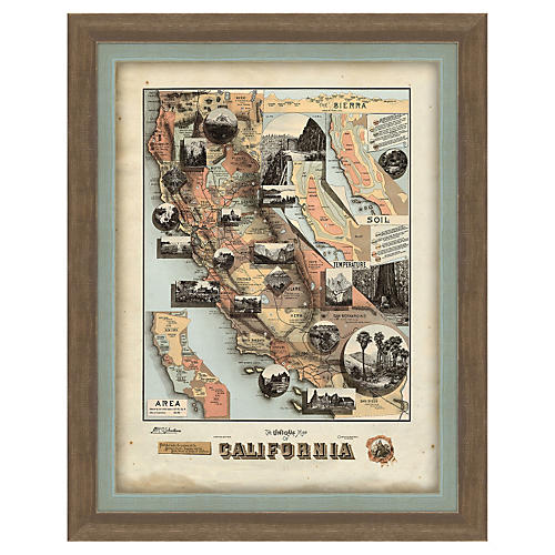 Melissa Van Hise, Map of California