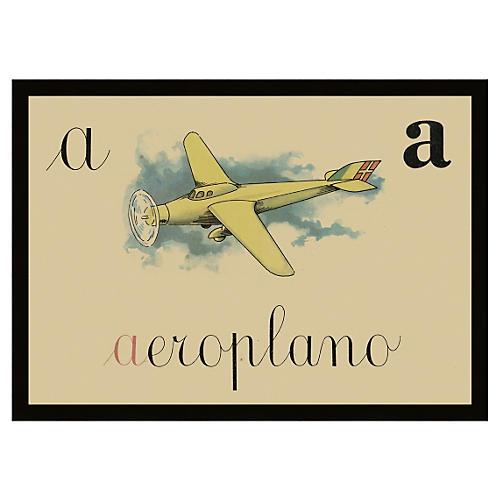 Italian Alphabet A