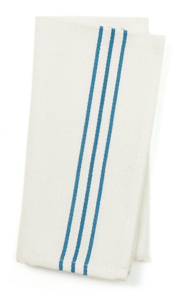 S/4 Napkins, Blue Stripes