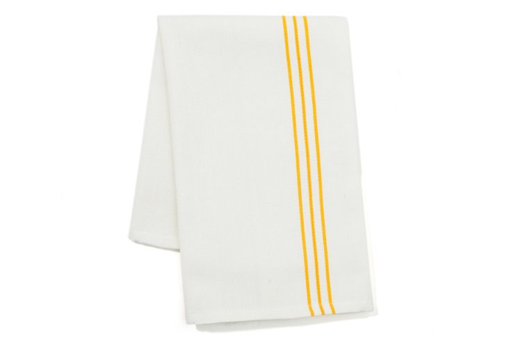 S/2 Woven Kitchen Towels, Yellow