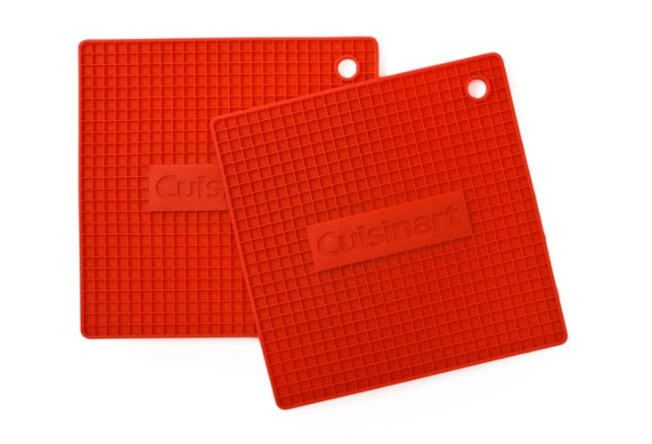 S/2 Pot Holders, Red