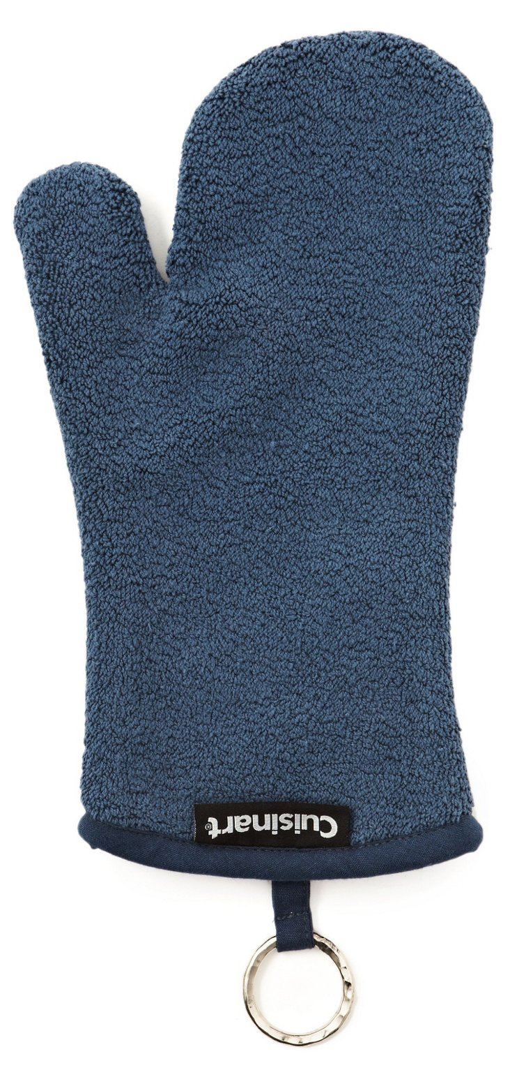 S/2 Terry Oven Mitts, Blue