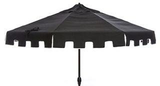 Nina Patio Umbrella, Black   One Kings Lane Outdoor   Brands | One Kings  Lane