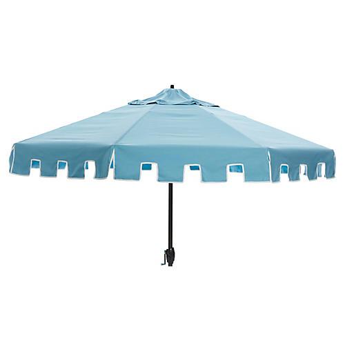 Nina Patio Umbrella, Mineral Blue
