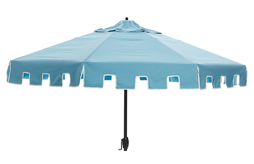 Nina Patio Umbrella, Mineral Blue