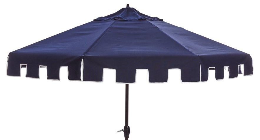Nina Patio Umbrella, Navy - One Kings Lane Outdoor - Brands   One ...
