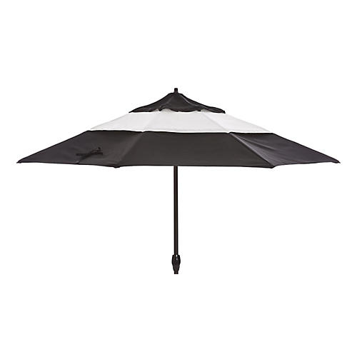 Meaghan Patio Umbrella, Black Sunbrella