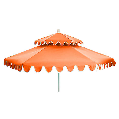 Daiana Two-Tier Patio Umbrella, Melon