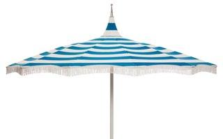 Ari Pagoda Fringe Patio Umbrella, Regatta Blue   Patio Umbrellas U0026 Stands    Outdoor Furniture   Outdoor | One Kings Lane