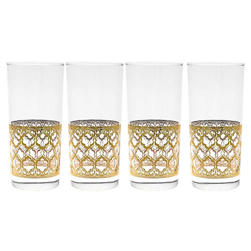 S/4 Valencia Cooler Glasses, 15 Oz