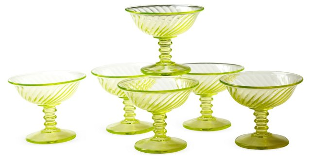 1930s Sherbet Dishes, Set of 6