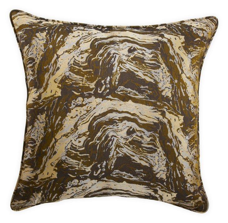 Green Lava-Print Pillow