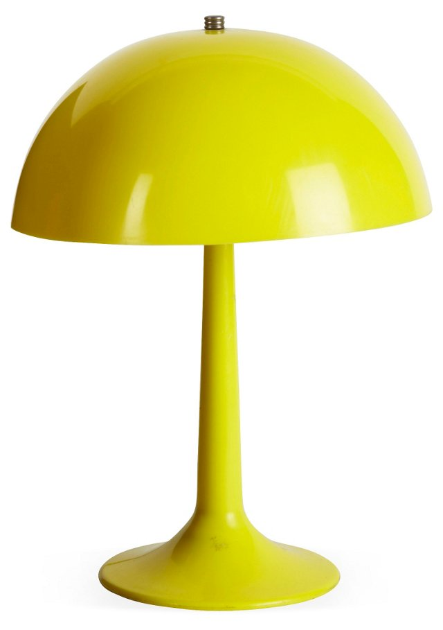 Yellow Table Lamp w/ Yellow Base