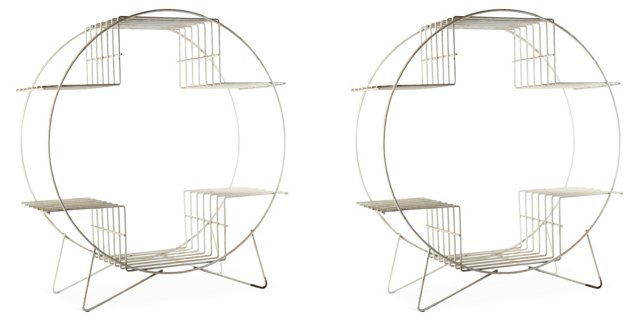 Wire Plant Stands, Set of 2