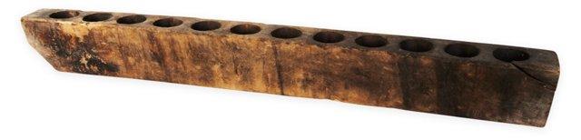 Indian Wood Candleholder