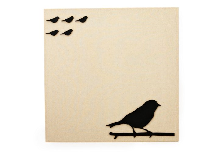 Fabric Magnetic Board, Bird