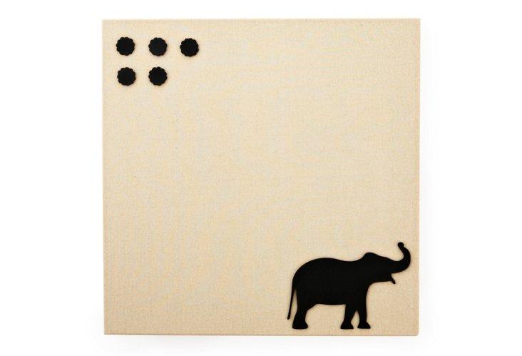 Fabric Magnetic Board, Elephant