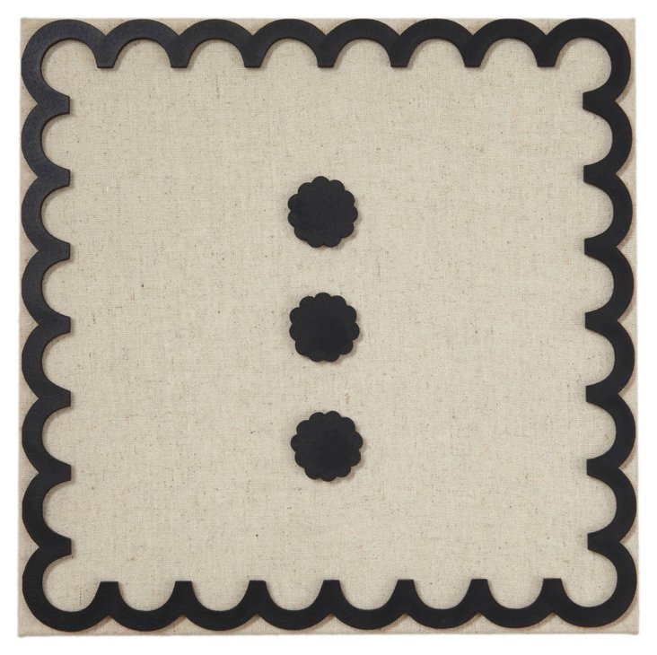 Fabric Magnetic Board, Scallop