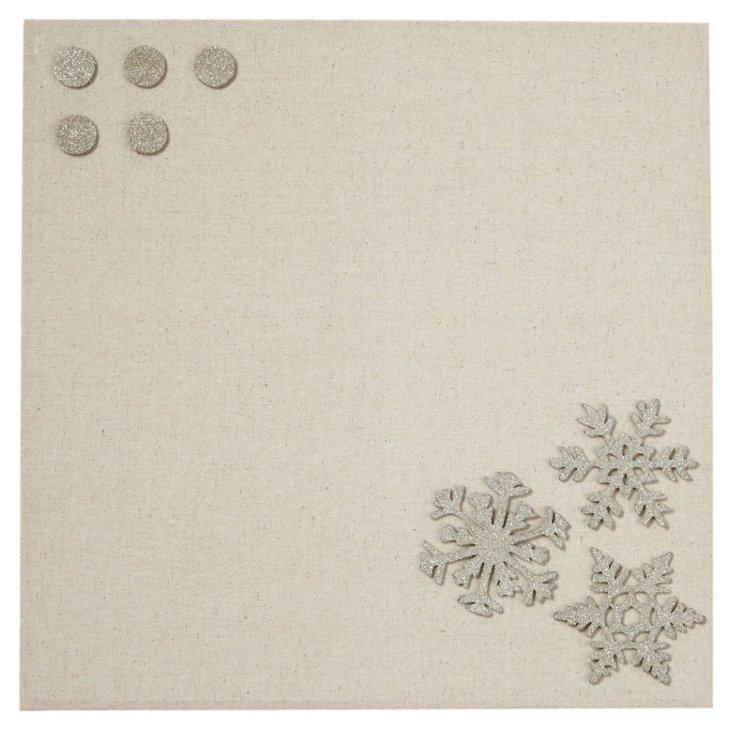 Fabric Magnetic Board, Snowflake Glitter