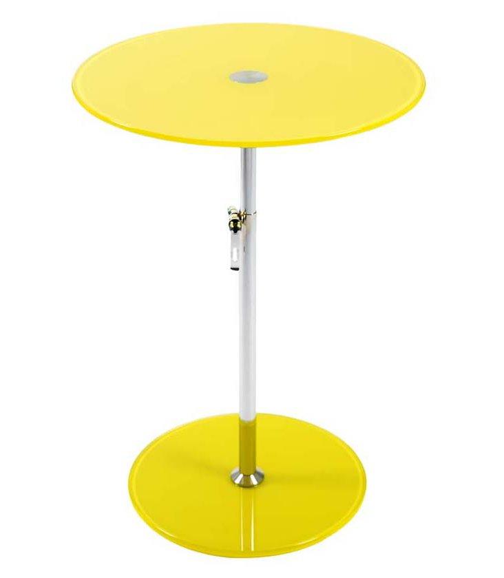 Radinka Adjustable Side Table, Yellow