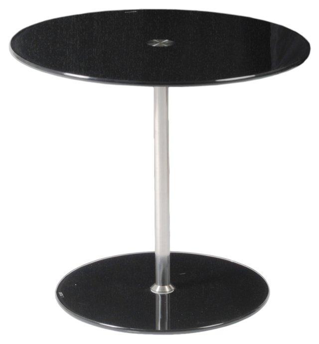 Emilio Adjustable Side Table, Black